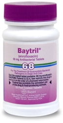 Baytril 68 mg, 50 Film Coated Tablets
