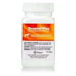 Drontal Plus 68mg For Medium Dogs 26-60 lbs, 50 Tablets