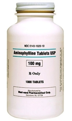 Aminophylline 100mg, 100 Tablets