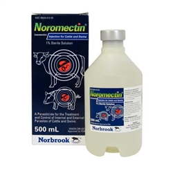 Ivermectin 1% (Noromectin) Injection For Cattle & Swine, 500 ml