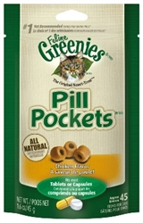 Feline Greenies Pill Pockets,  Chicken Flavor, 1.6 oz.