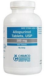 Allopurinol 300mg, 100 Tablets