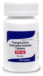 Theophylline Extended-Release 200mg, 100 Tablets