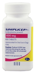 Simplicef 100mg, 100 Tablets