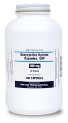 Doxycycline 100mg, 500 Capsules