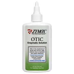 Zymox Otic Enzymatic Solution, Hydrocortisone Free, 8 oz.