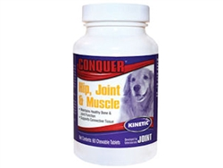 Conquer Hip, Joint & Muscle Supplement For Dogs, 60 Chewables