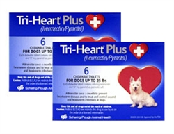 Tri-Heart Plus Chewable Tablets For Dogs Up To 25 lbs