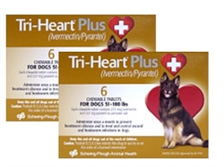 Tri-Heart Plus Chewable Tablets For Dogs 51-100 lbs