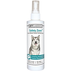 Vet Classics Canine Safety Zone Natural Herbal Calming Dog Spray, 8 oz