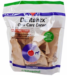 Dentahex Oral Care Chews For Dogs - Small, 30 Chews