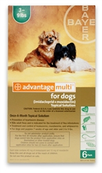 Advantage Multi For Dogs 3-9 lbs, 6 Pack