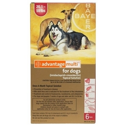 Advantage Multi For Dogs 20-55 lbs, 6 Pack