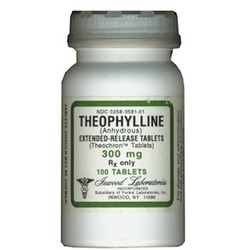 Theophylline Extended-Release 300mg, 100 Tablets
