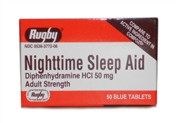 Diphenhydramine HCL [Compare to Benedryl] 50 mg, 1000 Tablets