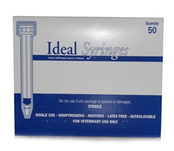 Ideal Syringe 6 cc, Without Needle, Regular Luer, 50/Box