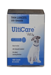UltiCare Vet Rx Lancets For Dogs, 26g, 100 Count Box