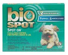 Bio Spot Spot On Flea & Tick Control for Puppies Under 15 lbs 3 Months