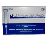 "Ideal Syringe 3 cc, 22 ga. x 1"", Luer Lock 100/Box"