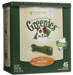 Greenies Tub Treat Pack, Petite 27 oz. (45 Count)