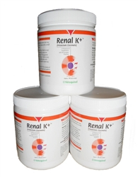 Renal K+ (Potassium Gluconate) Powder 100 gram (3 Pack)