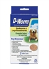 D-Worm Chewable Tablets  For Large Dogs, 2 Tablets