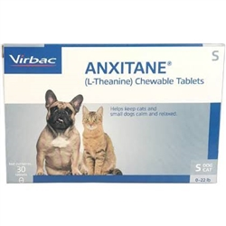 anxitane s l theanine chewable tablets l calming supplement for dogs medi vet. Black Bedroom Furniture Sets. Home Design Ideas