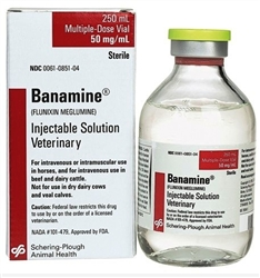 Banamine (Flunixin Meglumine) Injectable Solution 50mg/ml, 250ml