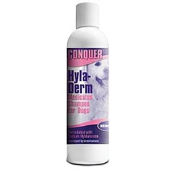 Conquer Hyla-Derm Medicated Shampoo For Dogs, 8 oz.