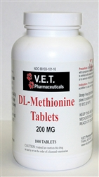 DL-Methionine 200mg, 1000 Tablets
