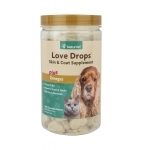 NaturVet Love Drops Skin & Coat, 200 Chewable Tablets