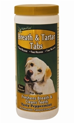 NaturVet Breath & Tartar Tabs, 90 Tablets