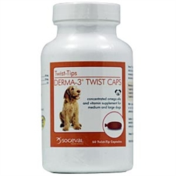 Derma-3 Twist Caps For Large Dogs, 250 Capsules