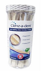 Clenz-A-Dent RF2 Dental Chew Sticks For Large Dogs, 8/Jar