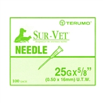 "Terumo Needles 25G x 5/8"" [Thin Wall], 100/Box"