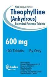 Theophylline Extended-Release 600mg, 100 Tablets