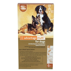 Advantage Multi For Dogs 88-110 lbs, 6 Pack