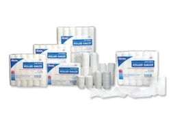 "Dukal 2"" Rolled Gauze, 2 Ply, Non-Sterile, 12 Per Bag"