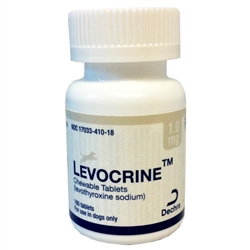 Levocrine Thyroid Chewable Tablets 1.0mg, 180 Tablets