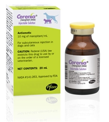 Cerenia Injectable Solution 10mg/ml, 20 ml