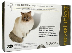 Revolution For Cats 15.1-22 lbs, 3 Doses