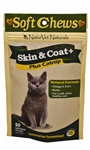 NaturVet Skin & Coat Plus Catnip Soft Chews For Cats, 50 Count