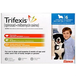 Trifexis For Dogs 40.1-60 lbs, 6 Chewable Tablets