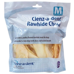 Clenz-A-Dent Rawhide Chews For Dogs - Medium, 30 Chews