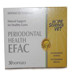 EFAC Periodontal Health Advanced Formula For Dogs & Cats, 30 Softgels