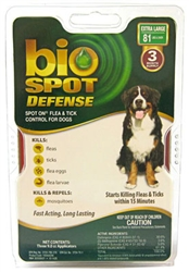 Bio Spot Defense Flea & Tick Spot On, Dogs 81 lbs & Over, 3 Month