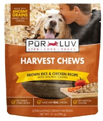 Pur Luv Harvest Chews Brown Rice & Chicken 21 oz