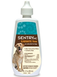 Sentry HC Earmite Free Ear Miticide For Dogs, 3 oz