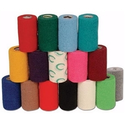 "Powerflex Bandage 4""X 5 Yard Roll, Light Blue"