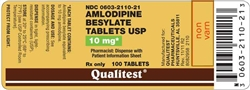 Amlodipine Besylate 10mg, 90 Tablets